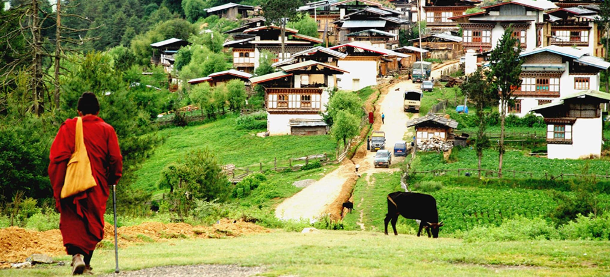 Mountain village in Bhutan